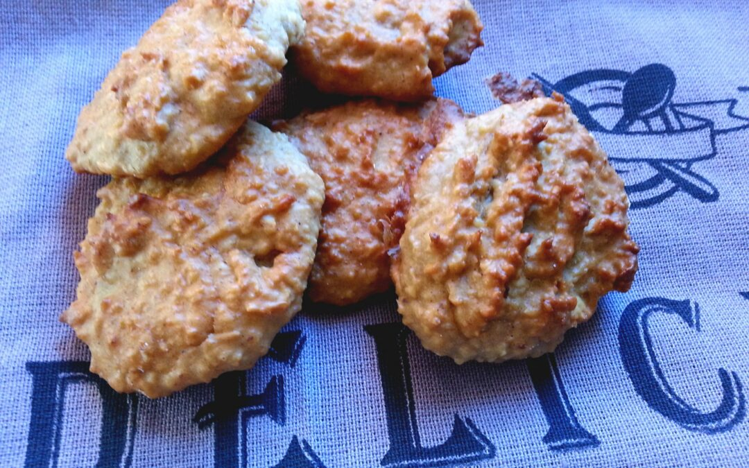 Biscoitos de Banana, Maçã e Amendoim