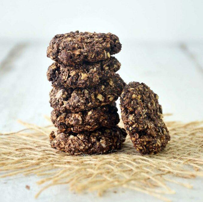 Cookies de Aveia e Alfarroba