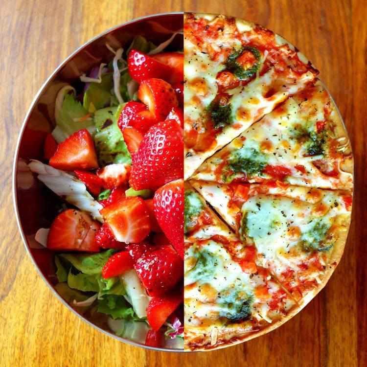 Como manter uma alimentação saudável no fim-de-semana