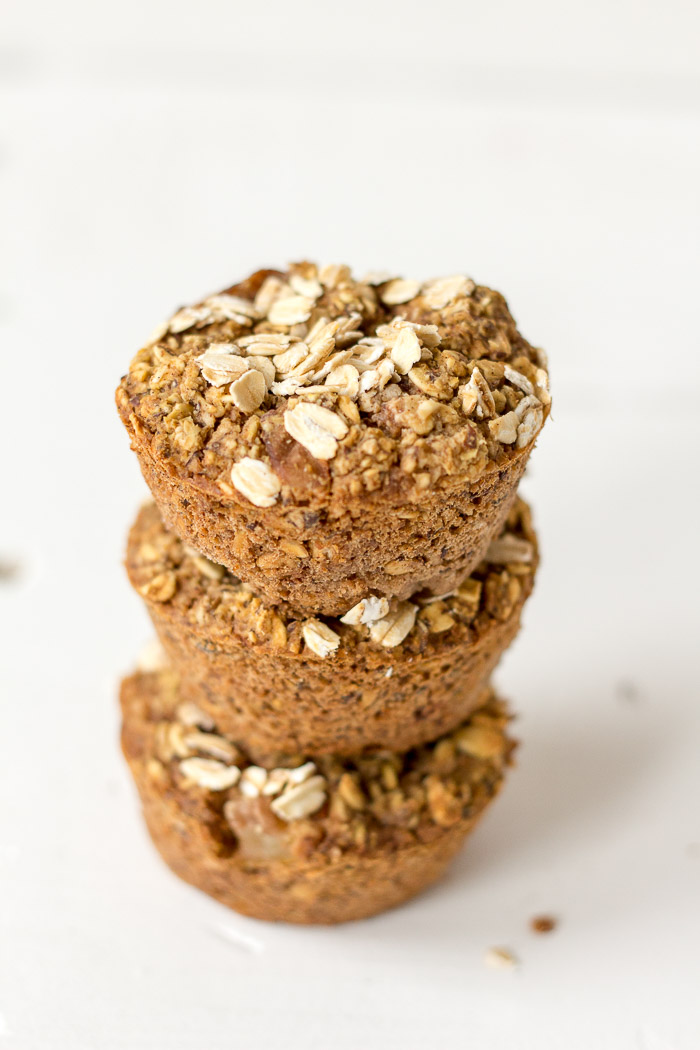 Muffins de aveia e pera