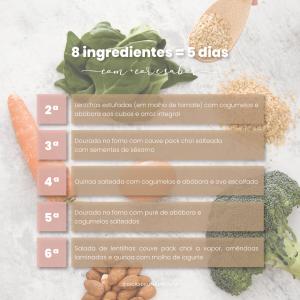 Ementa semanal saudável: 8 ingredientes para 5 dias!