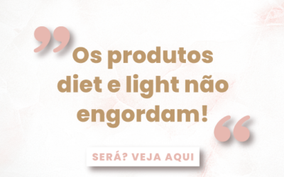 Os produtos light ajudam a emagrecer?